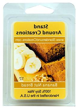100% All Natural Soy Wax Melt Tart - Banana Nut Bread: The m