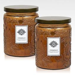 2 aromatherapy scented candles