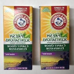 2 Boxes Of Arm & Hammer Fresh Sensations Island Mist Carpet