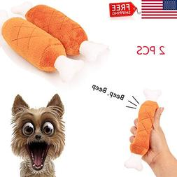 ALEONE 2xPet Dog Puppy Toys Chicken Legs Bone Small Dogs Che
