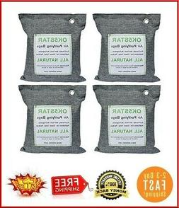 4 x 500G Air Purifying Bag, Activated Bamboo Charcoal Deodor