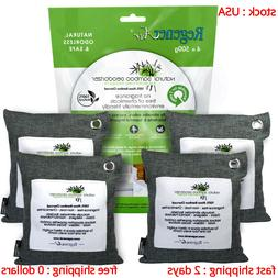 4 x 500g Air Purifying Bags Activated Bamboo Charcoal Deodor