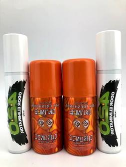 4x spray cans 2 pc orange chronic