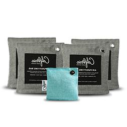 5-Piece Natural Activated Bamboo Charcoal Bags Value Pack -