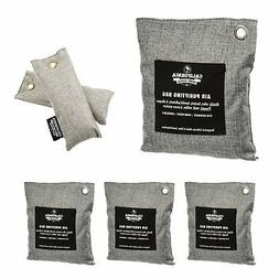 6-Pack Bamboo Charcoal Air Purifying bags, Odor Deodorizer &