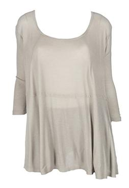 Fresh Laundry Thermal 3/4 SLV Round Nk Swing Top