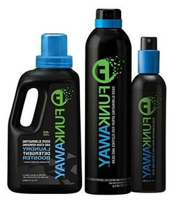 Funk Away Combo: Odor Eliminator Sprays  and Laundry Deterge