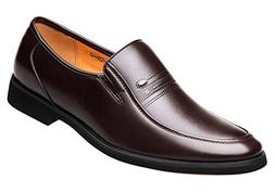 Seaoeey Men's Business Oxford Dress Casual Leather Shoes Bre