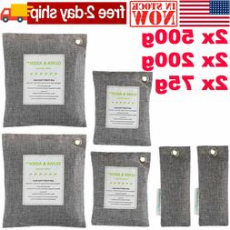 Activated Bamboo Charcoal 6 Pack - Eco Friendly Air Freshene