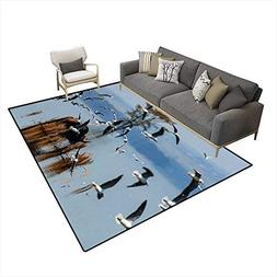 Extra Large Area Rug African Water Buffalo at Lake Nakuru wi