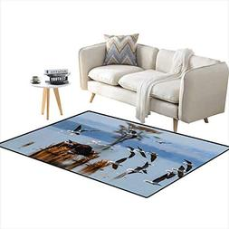 Area Rugs for Bedroom African Water Buffalo at Lake Nakuru w