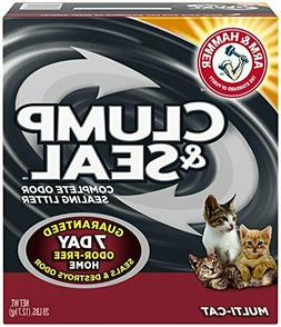 Arm & Hammer Clump & Seal Litter, Multi-Cat, 28 Lbs NEW
