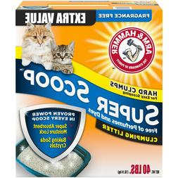 Arm & Hammer Super Scoop Clumping Litter, Fragrance Free, 40