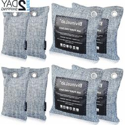 Bamboo Charcoal Air Purifying Bags , Activated Bamboo Odor E
