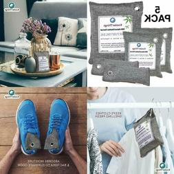 Bamboo Charcoal Air Purifying Bags Variety 5 Pack Odor Elimi