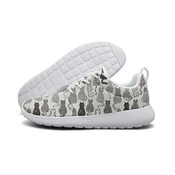 Hoohle Sports Black And White Textured Cats Womens Roshe One