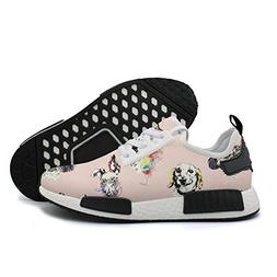 YHFJYT Breathable Mesh Plate Shoes Pink Puppy Fashion Athlet