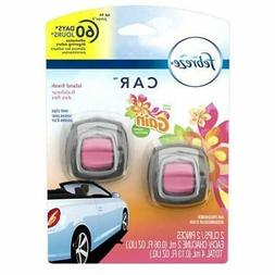 Febreze Car Vent Clip, Gain Island Fresh, Air Freshener Twin