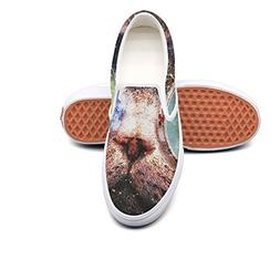 VCERTHDF Cool Space Galaxy Cat-01 Print Boat Shoe Man White