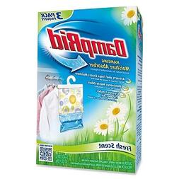 Damp Rid Hanging Moisture Absorber, Fresh Scent, Set of 3