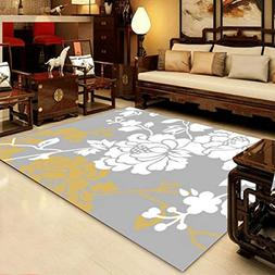 GIY Floral Living Room Area Rugs 3D Rug Rectangular Carpets