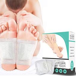 Foot Pads - 20 Premium Body Cleansing Foot Pads & Adhesive S