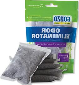 Gonzo Bamboo Charcoal - 6 Extra Small Bags 10g - Odor Elimin
