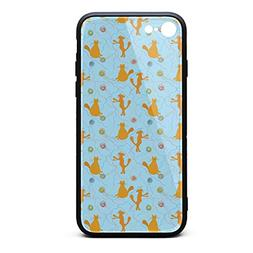 KylA Forster.iPhone 7/8 Case.Happy Cat Play Balls Blue Shock