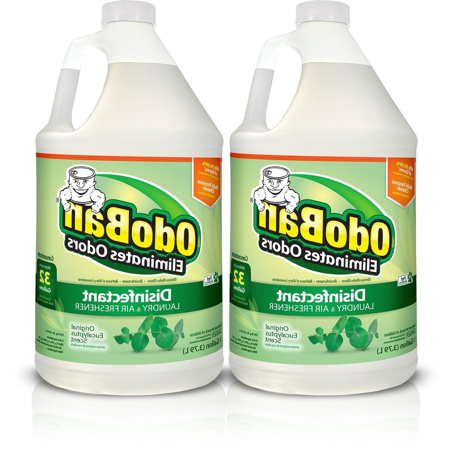 2 packs odor eliminator and disinfectant concentrate