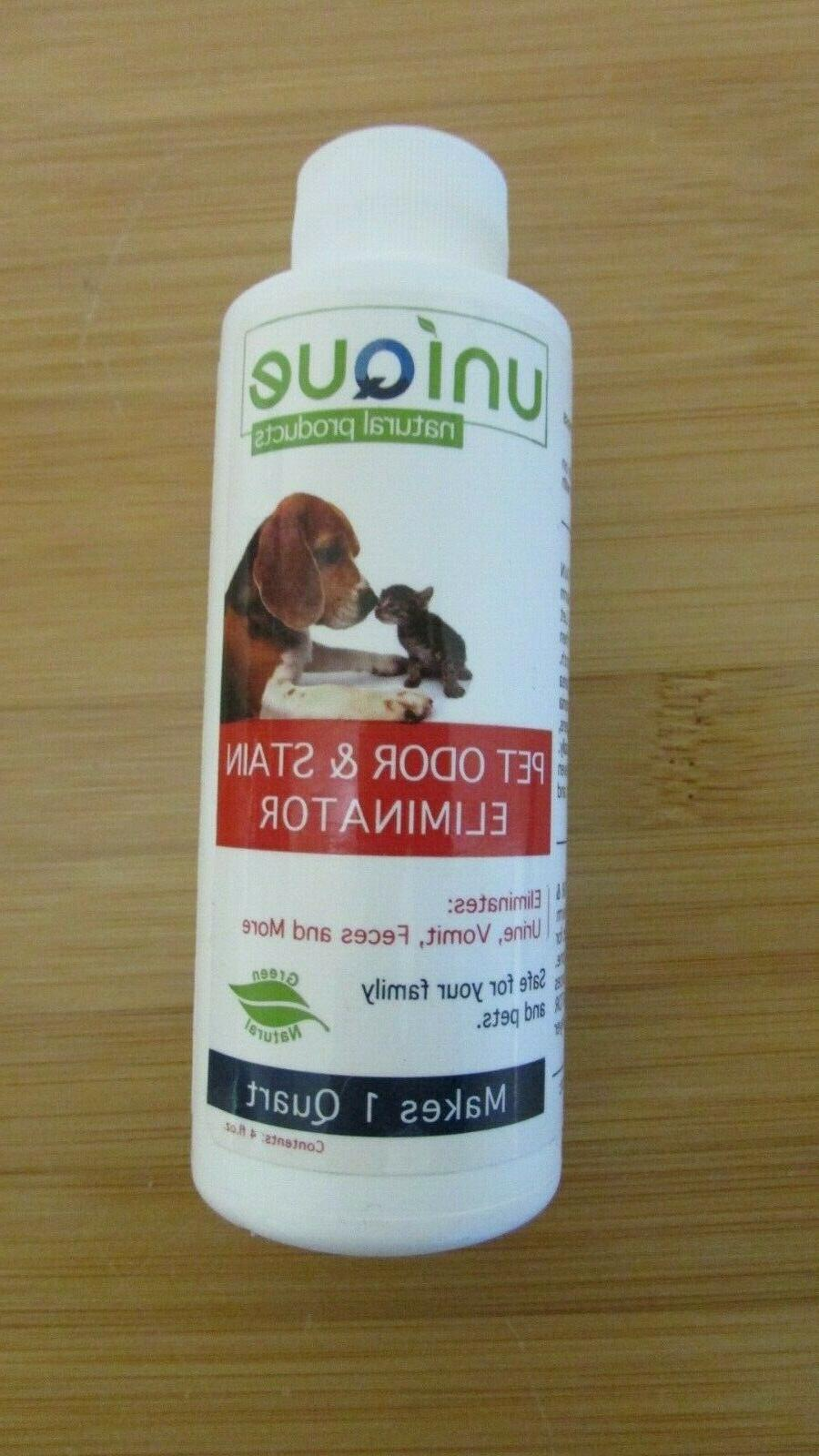 Unique Pet Odor and Stain Eliminator - Concentrate | Makes 1