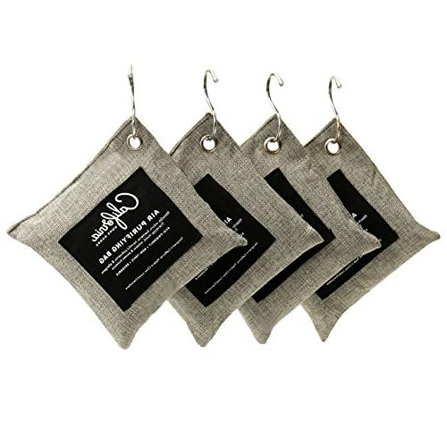 4-Pack 200g Charcoal Absorber, Odor for