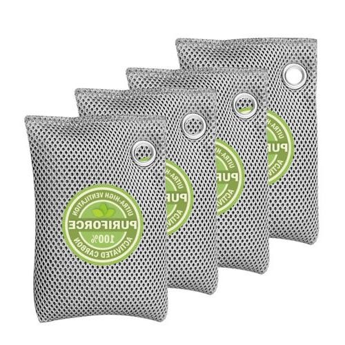 4 pack air purifying bags odor eliminator