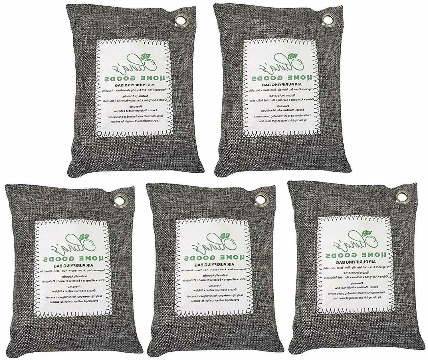 5 x 200G Air Purifying Bag Activated Bamboo Charcoal Deodori