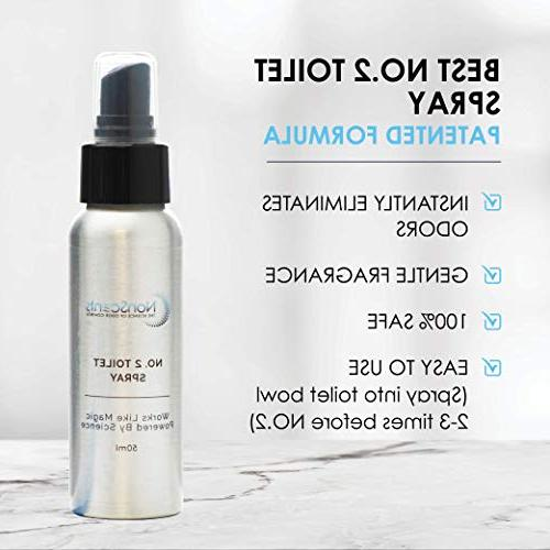 The Only Toilet Eliminates Smell, Overpowering Deodorizer and Freshener, Travel Essentials, Mild Scent, 50ml 1pack