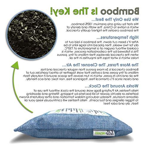 Activated Bamboo Charcoal Purifying Freshies | Odor Shoe Natural Freshener &