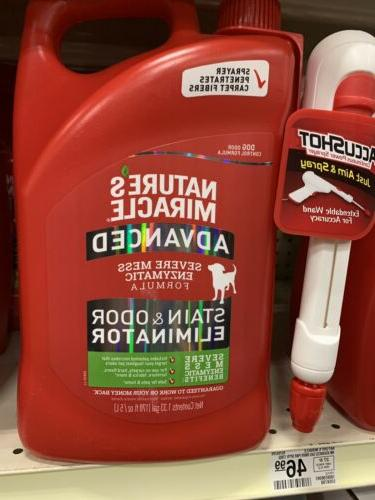 Natures Miracle Advanced Stain & Odor Remover  1.3 Gallon Ac