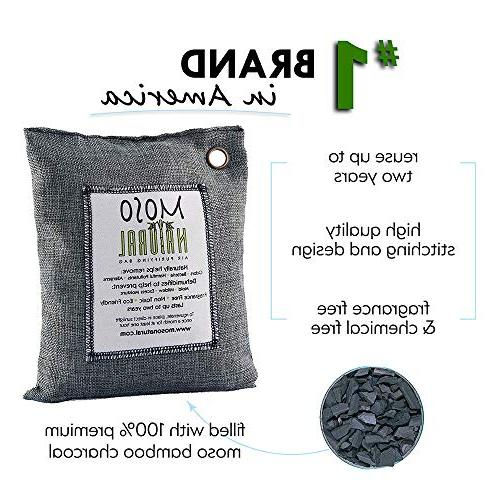 MOSO Air Bag Air Deodorizer, Eliminator, Absorber For Kitchens and Bedrooms. Charcoal Color