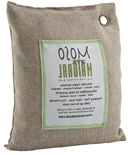 MOSO Bag. Bamboo Charcoal Air Freshener, Deodorizer, Odor Odor Kitchens and 500g Color