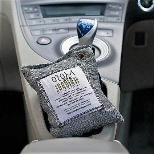 MOSO NATURAL Bag. Charcoal Freshener, Deodorizer, Odor and Charcoal Color