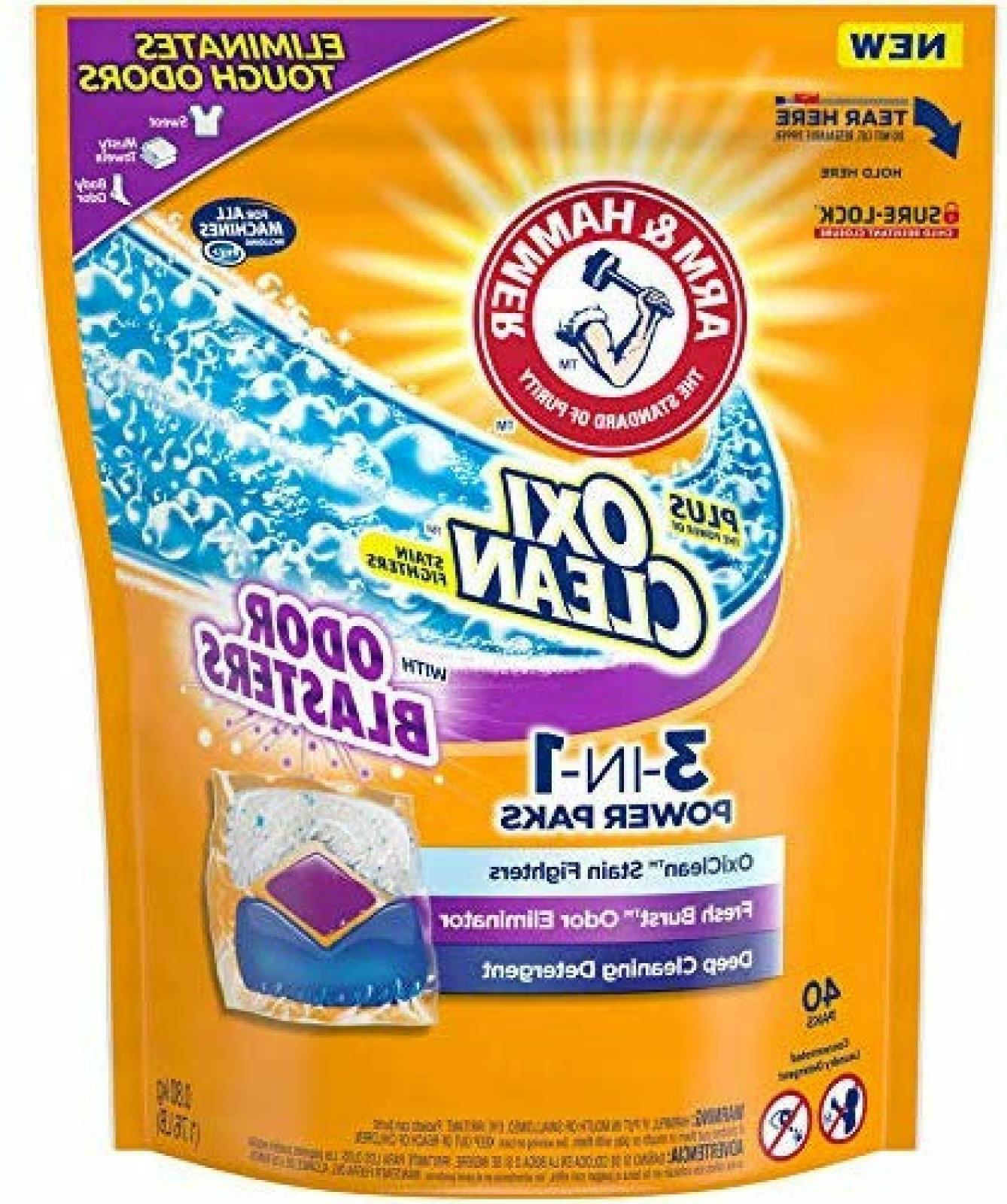 Arm & Hammer Plus Oxiclean with Odor Blasters Laundry De