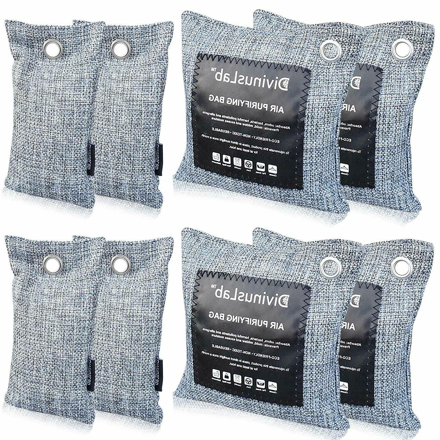 bamboo charcoal air purifying bags 8 pack