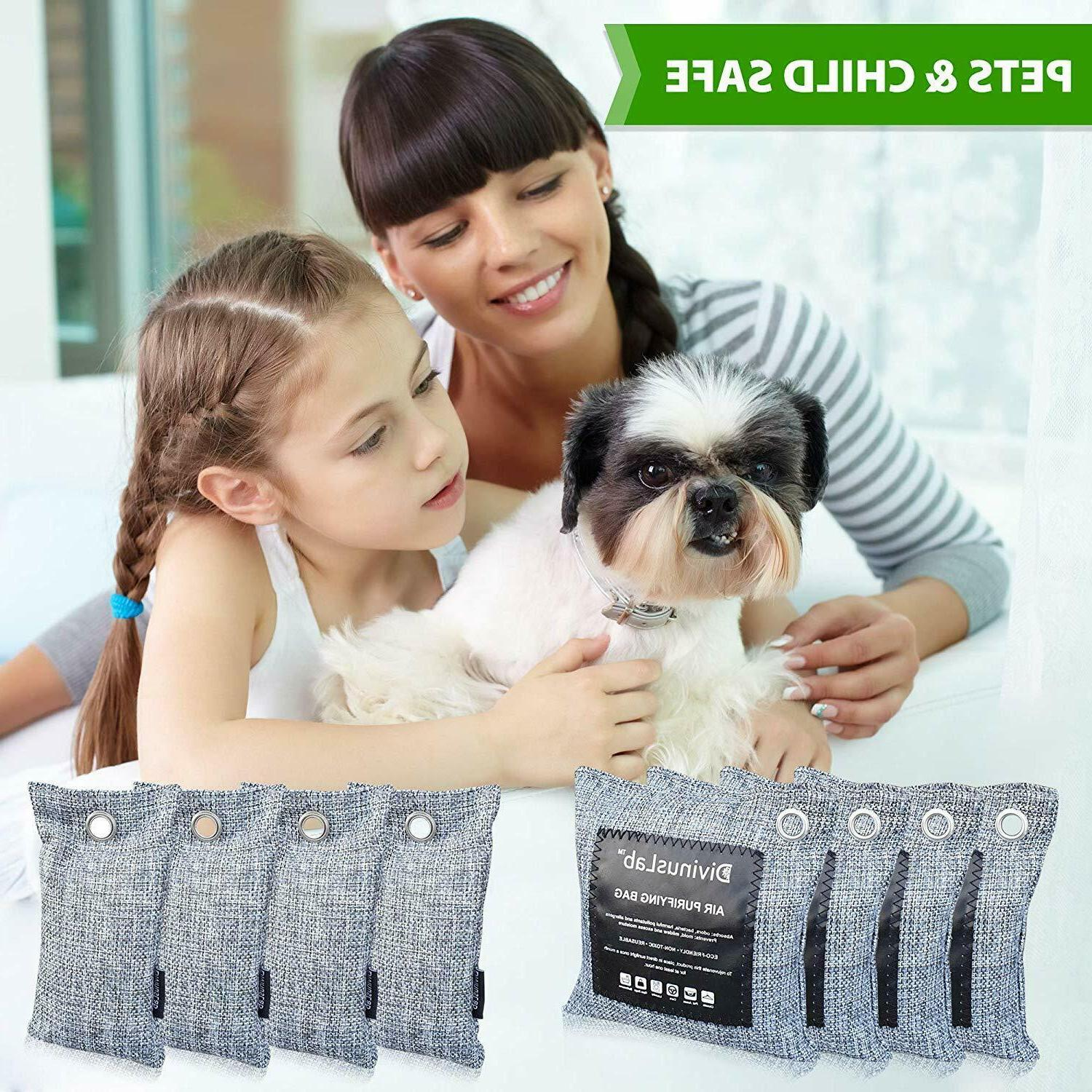 Bamboo Charcoal Purifying Bags , Odor Eliminator...