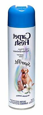 Carpet Fresh No-Vacuum Carpet Cleaner Aerosol, Super Pet, 10