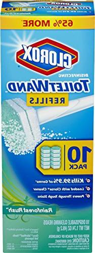 Clorox Toilet Wand Disposable Toilet Cleaning Refill, Rainfo