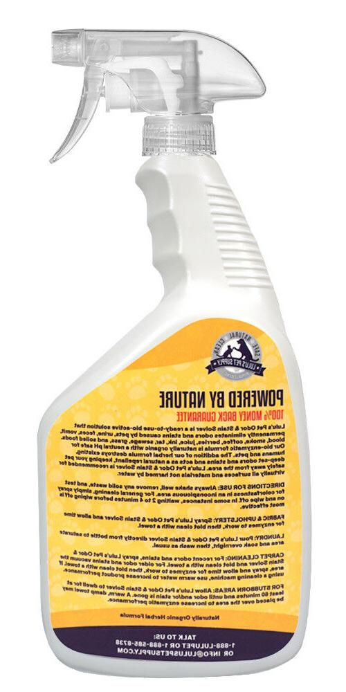 Hypoallergenic Odor Stain Solver, Urine Remover for Dogs/Cats