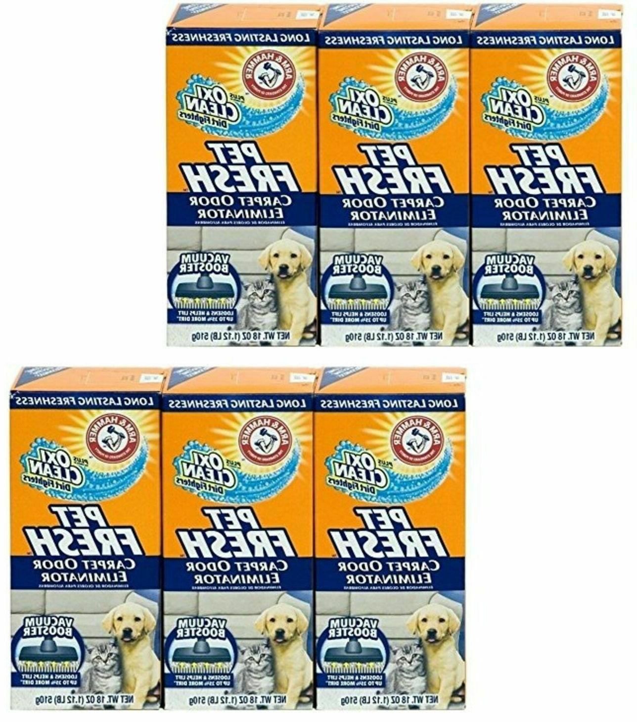lot of 6 arm and hammer pet