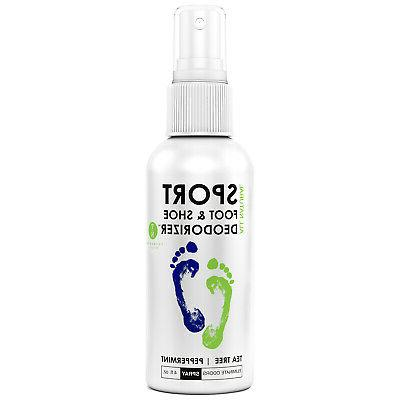 Natural Mint Foot & Shoe Deodorizer, Odor Eliminator Spray F
