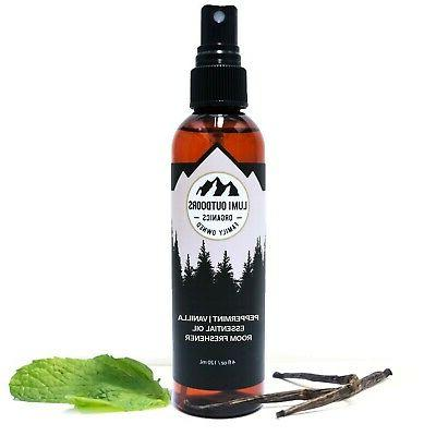 natural air freshener peppermint vanilla essential oil
