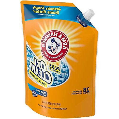 ARM & Plus OxiClean Fresh Scent Liquid Laundry Pouch, of 50 oz. 84 total loads