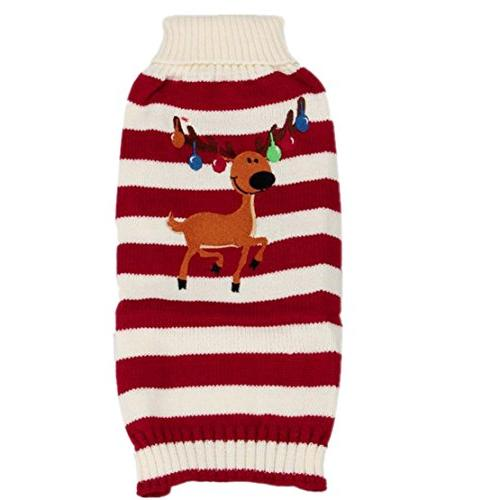reindeer pet puppy cat sweater